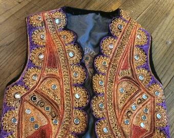 child's vintage hand made vest/hippie vest/kids vest/festival vest