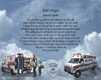 EMS Prayer Personalized Print