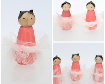 Ballerina Wooden Peg Dolls