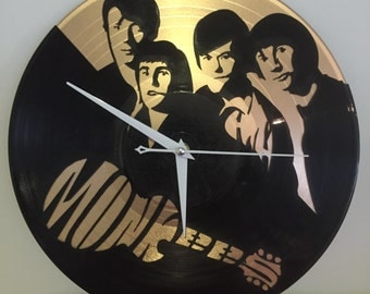 """The Monkees vinyl record wall art - upcycled from an original 12"""" vinyl record"""