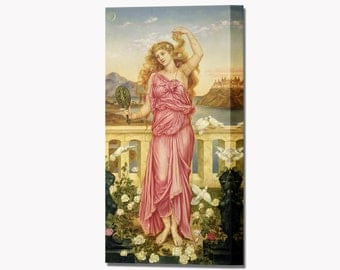 Helen of Troy Canvas Wall Art Print Picture Evelyn De Morgan Ready To Hang Decor