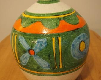 Handpainted vase signed Desimone