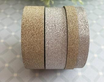 Glitter Washi Tape - Gold or Silver