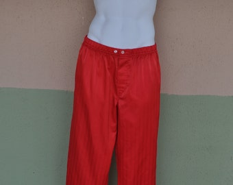Clearance Item 40% off*******Vintage 1980s Christian Dior Monsieur Red Lounge Pants