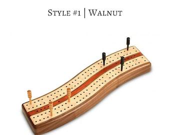 Wavy Cribbage Board
