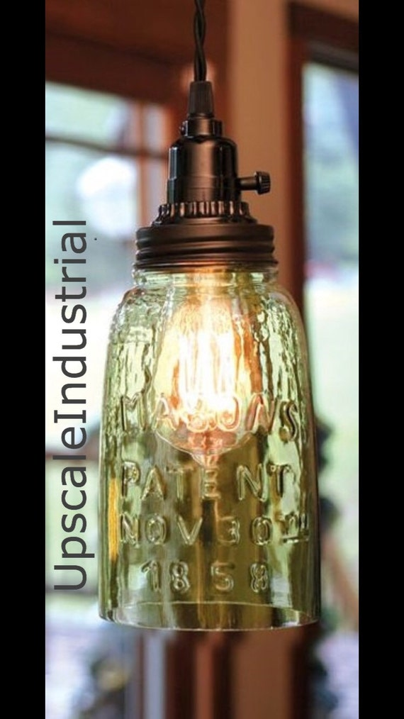 Mason Jar Light Pendant Light Rustic Lighting By