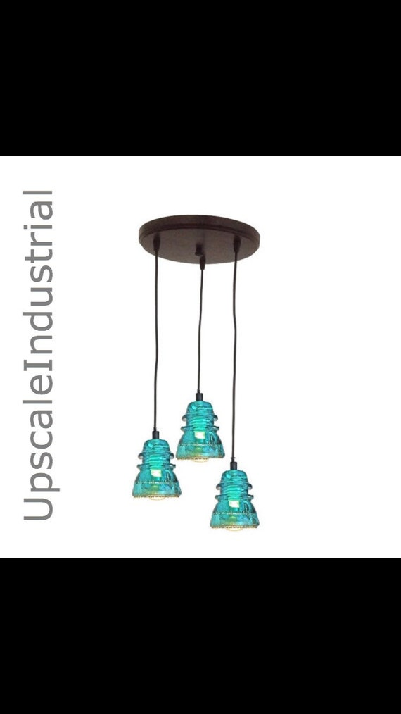 Insulator lighting chandelier vintage by upscaleindustrial for Insulator pendant light