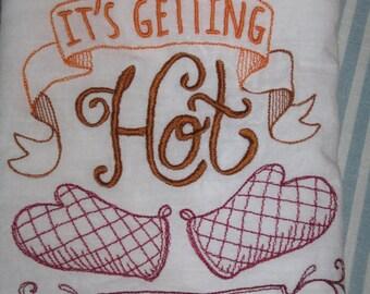 Hot stuff dish/hand towel with holder, shower/wedding gift