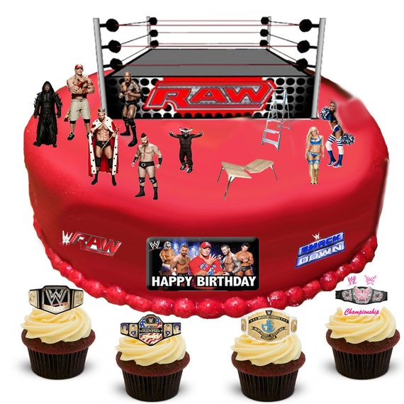 Stand Up Wwe Wrestling Scene Made From Fully Edible Premium
