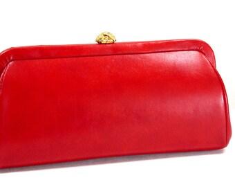 Pochette vintage rouge