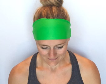 Fitness Headband - Workout Headband - Running Headband - Yoga Headband - Green Meadow