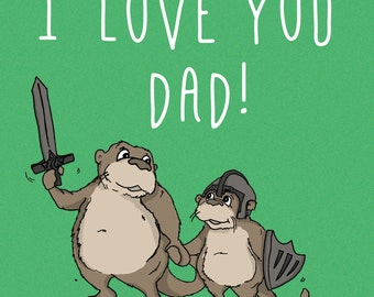 I Love You Dad, Father's Day Card, Card For Dad