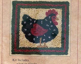 Black Hen Punchneedle Embroidery Kit