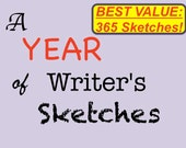 Daily Creative Writing Journal Prompts, 365 Daily Writing Exercises, Year of Writer's Sketches ebook, Writer Resource, Author Language Arts