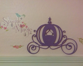 Disney inspired laser cut  Princess stagecoach wall decor