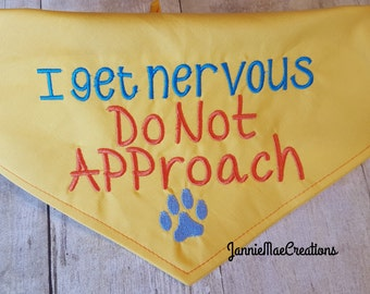 Embroidered Do Not Approach Dog Bandana