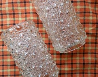 Retro Glass Lamp Shades. Glass lighting. Bubble glass.