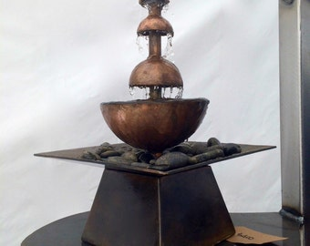 Tabletop Fountain, Indoor or Outdoor Fountain, ON SALE NOW, Water Feature with excellent sound, Patio Decor, Ambient Noise, Water Fountain