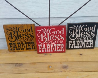 Primitive hand painted sign/Farmer
