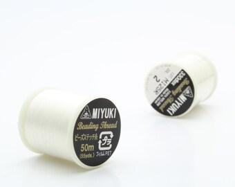 Miyuki Beading Threads #2 Off White Sold Per Spool
