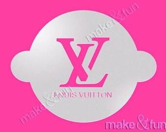 Designer Stencil, Lv Cake Stencil, Custom Stencil, Schablone (Product Code R018)