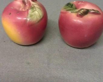 Metroware Hand Painted Apples Salt and Pepper Shaker Set