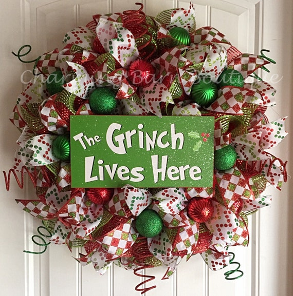 Home Made Modern Craft Of The Week 2 Rustic Christmas Stars: READY TO SHIP Christmas Wreath Grinch Wreath The Grinch