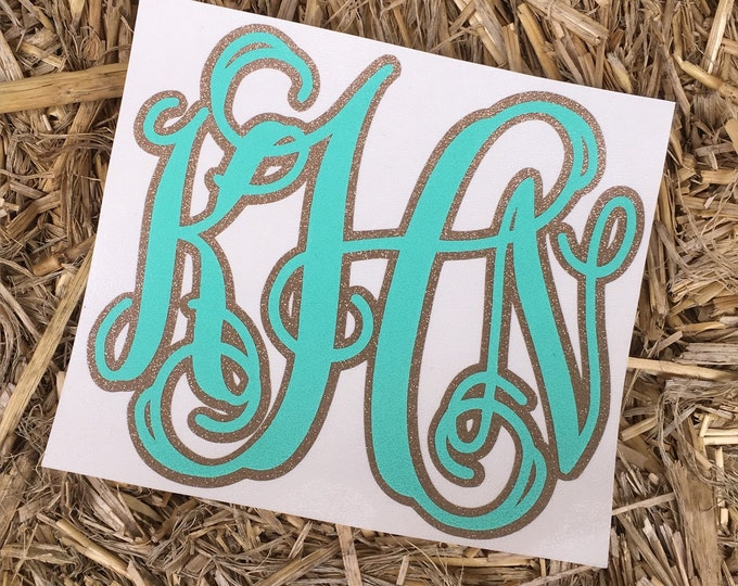 Double Layer Decal with Glitter || Glitter Decal