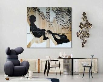 "AcrylicPainting, Canvas WallArt,Original Artwork,Large Painting,Wall Decor,Original WallArt,HomeDecor 49,2""x49,2"" Handmade by Andrea Janssen"