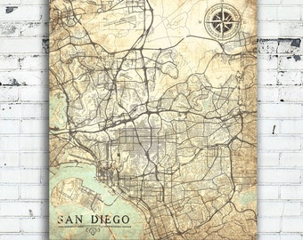 home decor san diego ca san diego city map etsy 12389