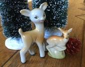 Vintage  Christmas Ornaments/ Vintage Deer Figurines / Kitsch Deer Figurines / Japanese Deer Figurine / European Deer Figurine