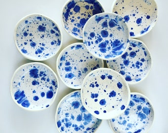 Ring Dish, Ceramics, Blue, Moon, Jewellery Dish, Soap Dish, tapas dish, olives bowl, ring dish, Made in Australia