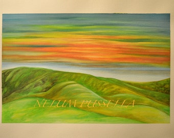 Grass Lands-Giclee print of Watercolor painting