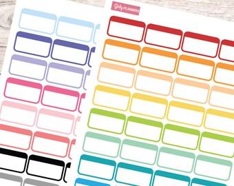64 Label Box Printable Planner Stickers (Basics Set)