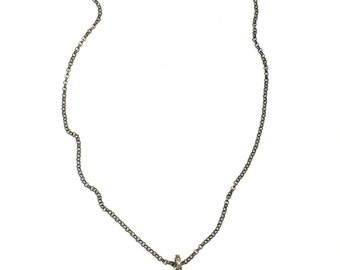 Freshwater Pearl Pendant with Pave Diamonds