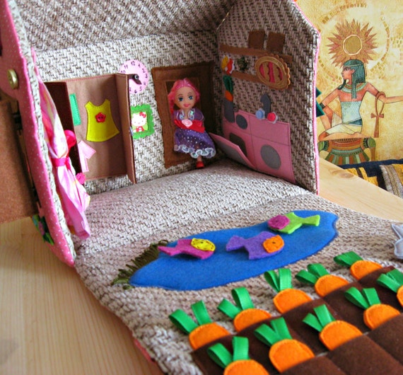 Dollhouse Bag For Travel Portable Travel Toy Toy For Girl