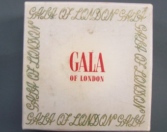 Vintage 1940s/1950s 40s 50s GALA of London Loose Powder with Contents