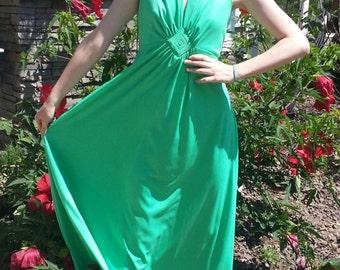Clearance Vintage dress green Marilyn Monroe long dress