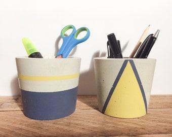 Concrete pen/ pencil holder (2)