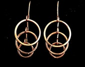 Full Circle Copper Earrings #queenebead