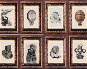 """8 cotton canvas PRINTS 21CMX28CM EACH 8""""X11"""" (8 PIECES)"""