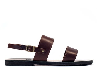 Men Sandals, Sandals, Men Leather Brown sandals, Mens leather sandals, Greek sandals