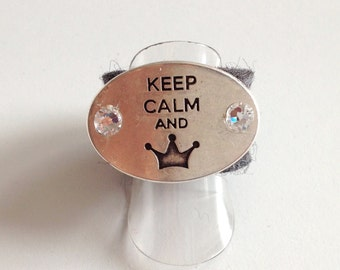 Felt ring keep calm