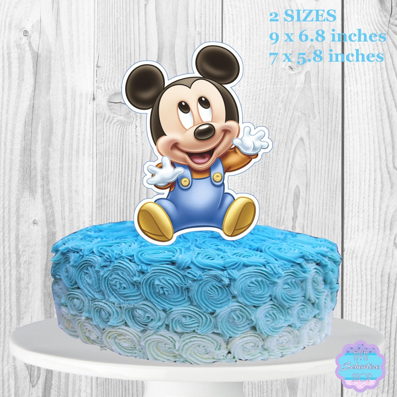 Baby Mickey Mouse Cake Topper Centerpiece Printable You
