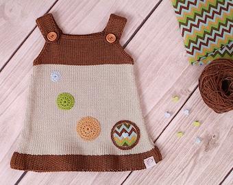 Baby dress knitting dress retro