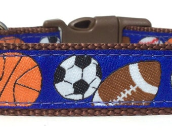 Sports Dog Collar, Adjustable Dog Collar, Ribbon Dog Collar