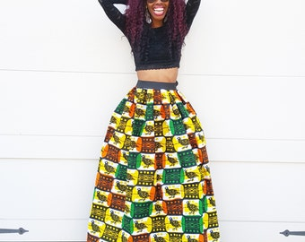 Destenee Ankara Maxi Skirt (XS - 6XL)