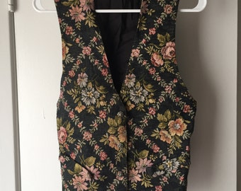 Vintage 90s floral tapestry vest