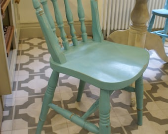 Hand painted farmhouse chairs pale blue (custom colour available)