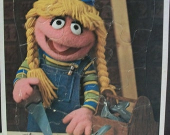 1981 Betty Lou,Carpenter Sesame Street Whitman Frame Tray Puzzle 4524c-33